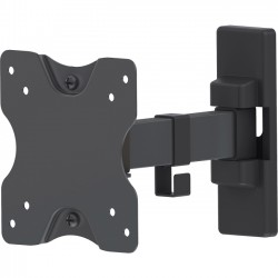 IC Intracom - 461375 - Manhattan Universal Flat-Panel Display Articulating Wall Mount - Single Arm Supports One 13 to 27 TV or Monitor up to 44 lbs., Black