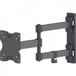 IC Intracom - 461382 - Manhattan Universal Flat-Panel Display Articulating Wall Mount - Double Arm Supports One 13 to 27 TV or Monitor up to 44 lbs., Black