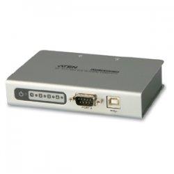 Aten Technologies - UC4854 - Aten UC4854 4-port USB-to-Serial RS-422/485 Hub - 1 x Type B Female USB 2.0 USB, 4 x 9-pin DB-9 Male RS-422/485 Serial