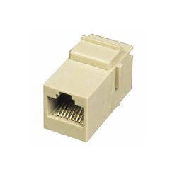 C2G (Cables To Go) - 03677 - C2G RJ45 (8P8C) Coupler Keystone Insert Module - White - 1 x RJ-45 Female - White