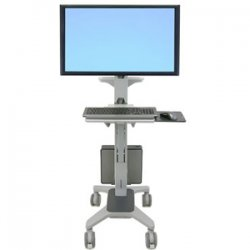 Ergotron - 24-189-055 - Ergotron Neo-Flex Wide View WorkSpace Computer Cart - Steel, Plastic - Two-tone Gray