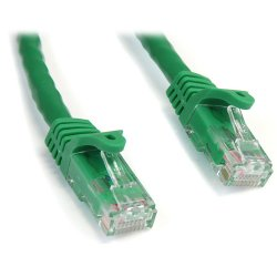 StarTech - N6PATCH10GN - StarTech.com 10 ft Green Snagless Cat6 UTP Patch Cable - Category 6 - 10 ft - 1 x RJ-45 Male Network - 1 x RJ-45 Male Network - Green
