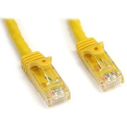 StarTech - N6PATCH25YL - StarTech.com 25 ft Yellow Snagless Cat6 UTP Patch Cable - Category 6 - 25 ft - 1 x RJ-45 Male Network - 1 x RJ-45 Male Network - Yellow