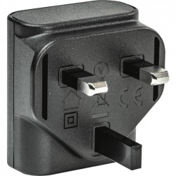 Socket Communications - AC4108-1721 - Socket Mobile 7, 700 & 800 Series - AC Power Supply USB (UK) 100-240V, 5V/1A - 120 V AC, 230 V AC Input Voltage - 5 V DC Output Voltage - 1 A Output Current