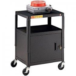 Bretford - CA2642E - Bretford CA2642E Height Adjustable A/V Cart With Cabinet - 1 x Shelf(ves) - 42 Height x 24 Width x 18 Depth