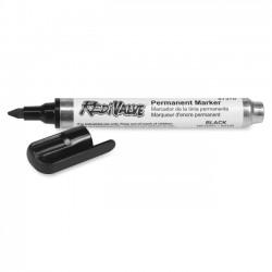 Dixon Ticonderoga - 87370 - Dixon RediValve Permanent Marker - Black Dye-based Ink - 1 Dozen