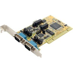 StarTech - PCI2S232485I - StarTech.com 2 Port RS232/422/485 PCI Serial Adapter w/ ESD - 2 x 9-pin DB-9 Male RS-232/422/485 Serial Universal PCI