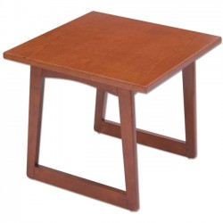 Safco - 7962CY - Safco Urbane Corner Table - Square Top - 23 Table Top Length x 23 Table Top Width x 1 Table Top Thickness - 20 Height - Assembly Required - Cherry, Laminated