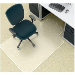 Deflect-O - CM14111 - deflecto SuperMat Medium Pile Chair Mat with Lip - Carpeted Floor - 48 Length x 36 Width x 0.50 Thickness - Lip Size 12 Length x 20 Width - Vinyl