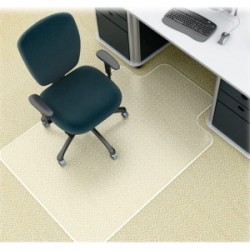 Deflect-O - CM14231 - deflecto SuperMat Medium Pile Chair Mat with Lip - Carpeted Floor - 53 Length x 45 Width x 0.50 Thickness - Lip Size 12 Length x 25 Width - Vinyl