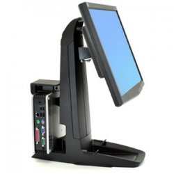 "Ergotron - 33-338-085 - Ergotron Neo-Flex All-In-One SC Lift Stand - Up to 37lb - Up to 24"" LCD Monitor - Black - Desk-mountable"