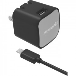 Mizco - IS-AC2M - DigiPower AC Adapter - 12 W Output Power - 5 V DC Output Voltage - 2.40 A Output Current
