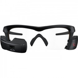 Intel - 900.00104.DPBC - Recon Jet Pro Smart Glasses - Eye - Bluetooth - Wireless LAN - GPS - Black, Clear - Smartphone, Running, Security - Water Resistant