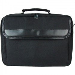 Inland Products - 2458 - Inland Professional Carrying Case (Briefcase) for 15.6 Notebook - Water Proof - Nylon, Sponge Interior - Handle, Shoulder Strap - 12.6 Height x 16.5 Width x 3.4 Depth