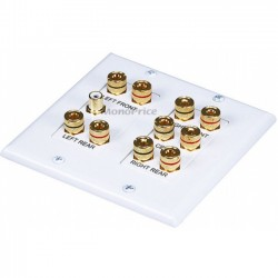 Monoprice - 4012 - Monoprice 2-Gang 5.1 Surround Sound Distribution Wall Plate - 2-gang - White - 1 x RCA Port(s)