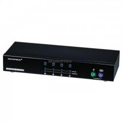 Monoprice - 4075 - Monoprice 4-Port DVI KVM Switch - Retail - 4 Computer(s) - 1 Local User(s) - 1280 x 1024 - 10 x PS/2 Port - 5 x DVI - Rack-mountable - 1U