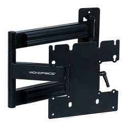 Monoprice - 5921 - Monoprice MHA-200 Mounting Bracket for Flat Panel Display - 23 to 40 Screen Support - 80 lb Load Capacity - Steel - Black