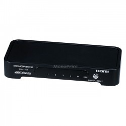 Monoprice - 6259 - Monoprice 4x1 HDMI Switch w/ CEC Engine (Full 1080p HD) w/ 3D support - 1920 x 1080 - Full HD - 4 x 1 - 1 x HDMI Out