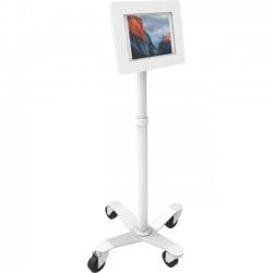 "Compulocks Brands - MCRSTDW224SENW - MacLocks Rise Freedom Rolling iPad Kiosk - Fits iPad, iPad Pro & iPad Mini - 55.2"" Height - Floor - Metal - White"