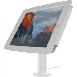 Compulocks Brands - TCDP01W235SMENW - Compulocks The Rise Space iPad Kiosk - iPad Stand with Cable Management - White
