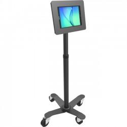 "Compulocks Brands - MCRSTDB250MROKB - MacLocks Rise Freedom Rolling Galaxy Tab Kiosk - Galaxy Tab Rolling Stand - Up to 8"" Screen Support - 55.2"" Height - Freestanding - Black"