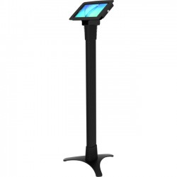 Compulocks Brands - 147B680EGEB - MacLocks Space Galaxy Tab E Adjustable Floor Stand Kiosk - Galaxy Tab E Kiosk - Up to 8 Screen Support - 45 Height - Floor - Cast Iron, Aluminum - Black