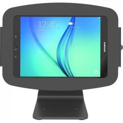Compulocks Brands - 303B680EGEB - MacLocks Space Galaxy Tab E Enclosure 360 Kiosk - Galaxy Tab E Kiosk - Black