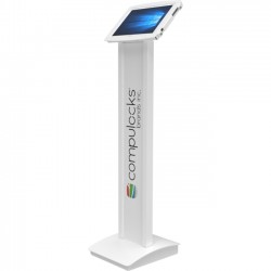 Compulocks Brands - 140W912SGEW - Compulocks BrandMe Tablet PC Stand - Floor Stand - White