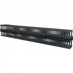 IntelliNet - 714327 - Intellinet Vertical Cable Manager - Cable Manager - Black - 2 Pack - 26U Rack Height - Plastic, Steel