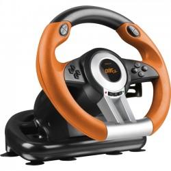 Speedlink - SL-6695-BKOR-01 - SPEEDLINK DRIFT O.Z. Racing Wheel PC, Black-Orange - Cable - USB - PC - 6.56 ft Cable - Force Feedback