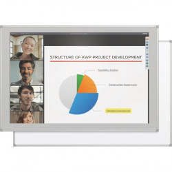 "Best-Rite / MooreCo - 2G5KH-26 - MooreCo Interactive Projector Board with Brio Trim - 107"" - 47.06"" x 95.25"" Active Area - Multi-touch Screen - Gloss White - TAA Compliant"