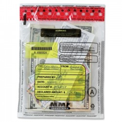 MMF Industries - 2362010N20 - MMF Clear Tamper-Evident Deposit Bags - 9 Width x 12 Length - Clear - Plastic - 100/Box - Deposit