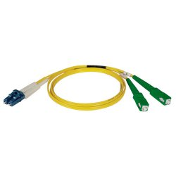 Tripp Lite - N366-02M-AP - Tripp Lite 2M Duplex Singlemode 8.3/125 Fiber Optic Patch Cable LC/SC/APC 6' 6ft 2 Meter - LC Male Network - SC Male Network - 6.56ft