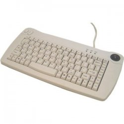 Adesso / ADS Technologies - ACK-5010PW - Adesso ACK-5010PW Mini Keyboard - PS/2 - QWERTY - 89 Keys - White