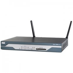 Cisco - CISCO1801-RF - Cisco 1801 Integrated Services Router - 8 x 10/100Base-TX LAN, 1 x 10/100Base-TX WAN, 1 x ISDN BRI (S/T) WAN, 1 x ADSL WAN