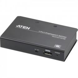 Aten Technologies - VS192 - Aten 2-Port 4K DisplayPort Splitter - 4096 x 2160 - DisplayPort - Metal
