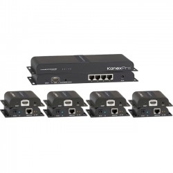 KanexPro - SP-HDCAT1X4 - KanexPro HDMI 1x4 Distribution Amplifier Over CAT5e/6 Outputs - 1920 x 1080 - 393.70 ft Maximum Operating Distance - HDMI In - Network (RJ-45)