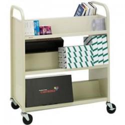 Bretford - V336-GM - Bretford V336-GM Book Cart - 6 Shelf - 4 Casters - 4 Caster Size - Steel - 37 Width x 18 Depth x 42 Height - Gray Mist