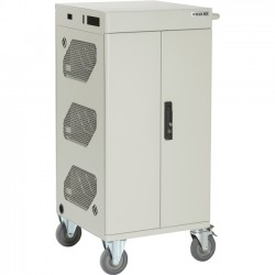 Black Box Network - LCC30H-AC-HASP-R2 - Black Box LCC30H-AC-HASP-R2 Charging Cart - 3 Shelf - 5 Caster Size - Steel - 44.1 Length x 21.3 Width x 20.2 Height - Steel Frame - For 30 Devices