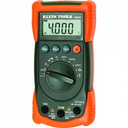 Klein Tools - MM200 - Klein Tools Auto Ranging Multimeter - Voltage Monitor, Current Measurement, Capacitance Measurement, Temperature Measurement, Frequency Measurement, Resistance Measure, Diode Test - 1Number of Batteries Supported - Battery Included