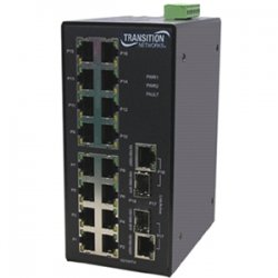 Transition Networks - SISTF1040-162D-LRT - Transition Networks Unmanaged Ethernet Switch - 2 x SFP (mini-GBIC) - 16 x 10/100Base-TX, 2 x 10/100/1000Base-T