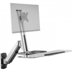 Ergotech - FDM-LIFT-1-WM - Ergotech Freedom Lift Wall Mount for Monitor - 32 Screen Support - 19.80 lb Load Capacity - Silver