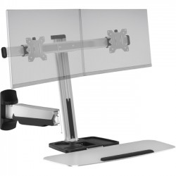 Ergotech - FDM-LIFT-2-WM - Ergotech Freedom Lift Wall Mount for Monitor - 27 Screen Support - 28.60 lb Load Capacity - Silver