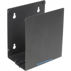 Rack Solution - 104-4010 - Rack Solutions Wall Mount for UPS, Desktop Computer - 40 lb Load Capacity - Black Powder Coat