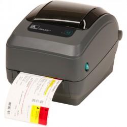 "Zebra Technologies - GX43-102812-150 - Zebra GX430t Direct Thermal/Thermal Transfer Printer - Monochrome - Desktop - Label Print - 4.09"" Print Width - 4 in/s Mono - 300 dpi - 8 MB - Bluetooth - USB - Serial - Parallel - LCD - 4.25"" Label Width - 39"" Label"