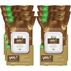 Yes To - 5337101-6-KIT - Yes To Coconut Facial Cleansing Wipes, 30 Count Pack of 6 - Petroleum Free, Sodium Lauryl Sulfate Free, Paraben-free - For Face, Body, Neck, Hand - 30 Sheets - 6 Pack