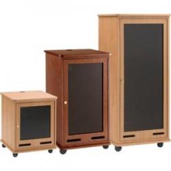Da-Lite - 96300GWL - Da-Lite 96300GWL Rack Cabinet - 21U Wide for A/V Equipment - Gunstock Walnut Laminate - Plexiglass