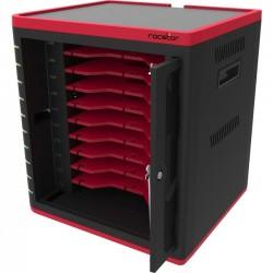 Rocstor - VTSC10-01 - Rocstor Volt SC10 Sync & Charging Station - Up to 10.1 Screen Support - 16.9 Height x 15.7 Width x 13.8 Depth - Desktop, Wall Mountable - Plastic, Steel - Black, Red