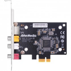 AverMedia - CE310B - AVerMedia SD PCIe Frame Grabber with Composite / S-Video Interfacing - Functions: Video Capturing, Video Scaling - PCI Express x1 - 720 x 576 - PAL, NTSC - Plug-in Card
