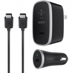 Belkin - F7U016DQ05-BLK - Belkin USB-C Charger Kit + Cable